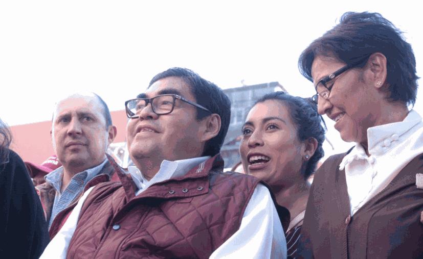 """Barbosa Huerta será candidato otra vez """"porque ganó los comicios pasados"""", aseguró la presidenta de Morena. (Internet)"""