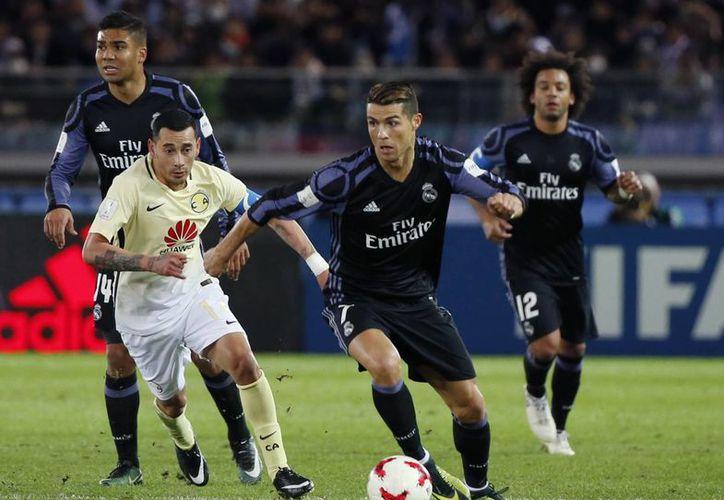 Cristiano Ronaldo sentenció el encuentro tras anotar el segundo gol del Real Madrid en los últimos segundos del encuentro.(Shuji Kajiyama/AP)
