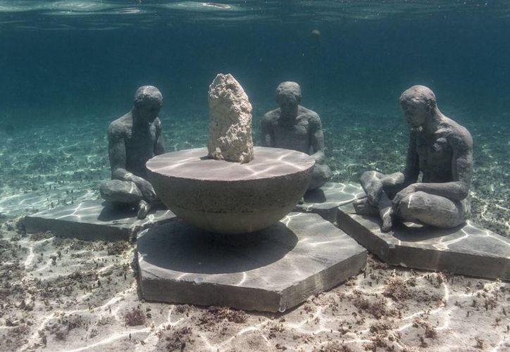 El Museo Submarino de Arte de Cancún este año  registró de 250 mil visitantes. (Tomás Álvarez/SIPSE)