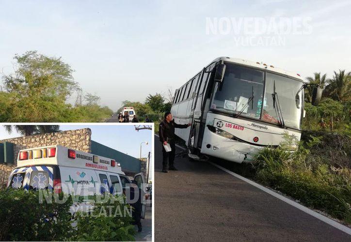 La víctima era llevado al IMSS de Motul. (Novedades Yucatán)