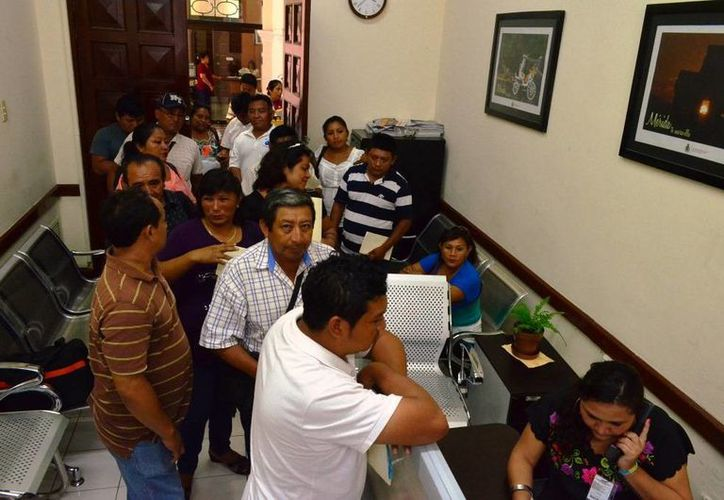 Las solicitudes de las necesidades inmediatas de los comisarios de Mérida fue presentada en la oficina de la Presidencia Municipal. (Cortesía)