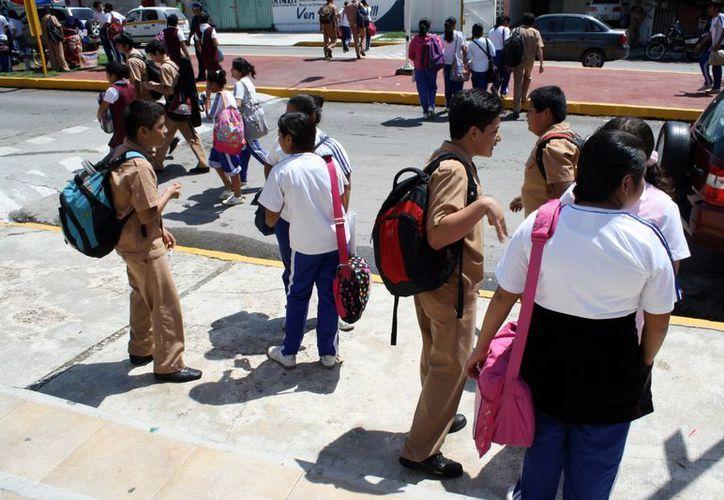 Por miedo, las victimas no denuncian el acoso que sufren en las escuelas. (Francisco Sansores/SIPSE)