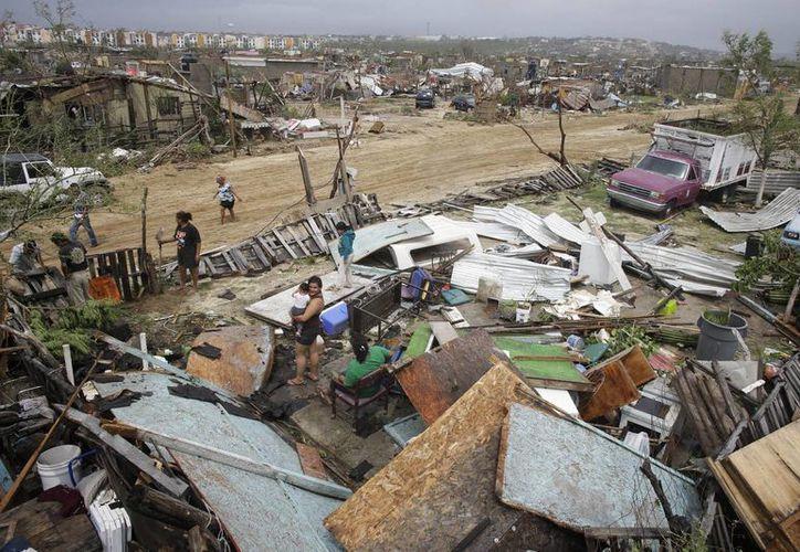 La Conagua indicó que se mantiene la alerta de huracán para la costa norte del estado de Baja California Sur por 'Odile'. (AP)