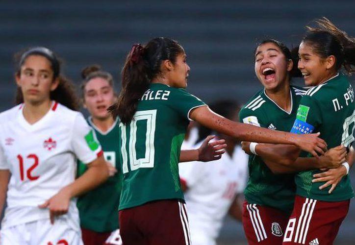 Las mexicanas llegaron a esta instancia tras dejar un registro de tres triunfos y dos empates. (Internet)