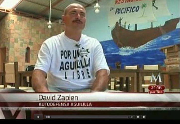 David Zapien, del Consejo de Seguridad del grupo de autodefensa en Aguililla, considera que los Templarios los pueden atacar en cualquier momento. (Milenio)