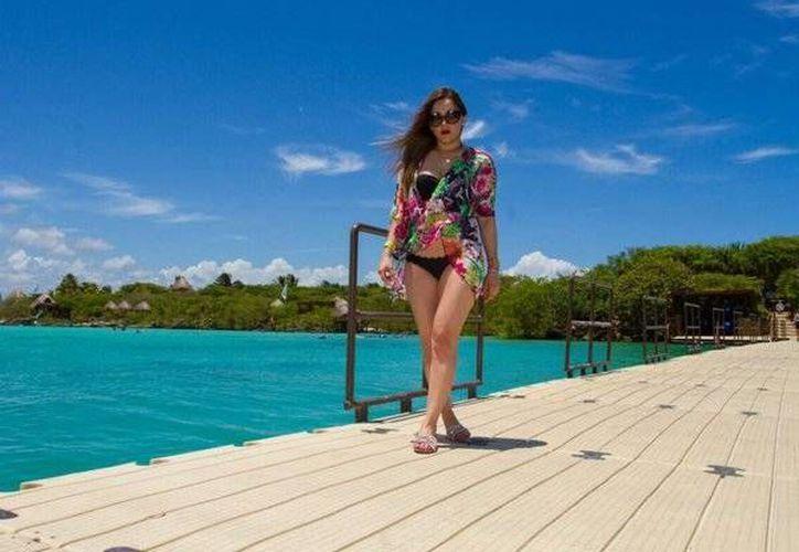 Sherlyn disfrutó de los destinos de Quintana Roo. (Cortesía/Internet)