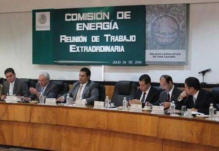 Reunión de la Comisión de Energía de la Cámara de Diputados. (Foto de Milenio tomada de: @MarcoBernalG)