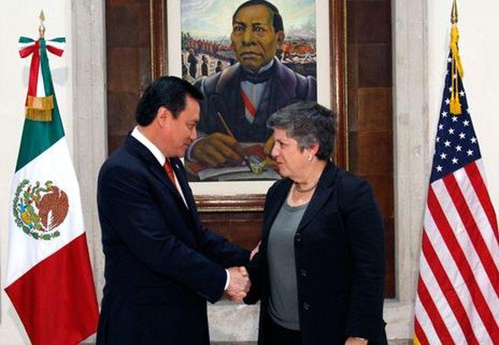 Chong y Napolitano acordaron reforzar la lucha contra el crimen en la frontera. (gobernacion.gob.mx)