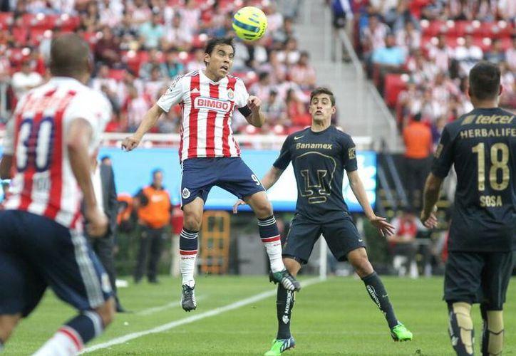 El partido entre Chivas y Pumas se llevará a cabo el próximo domingo a las 20:30 horas en el estadio Omnilife.(Notimex)