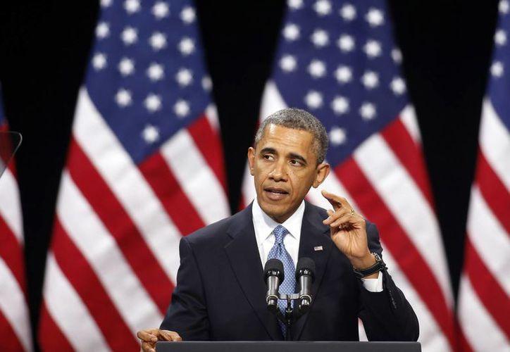 Obama exhorta a los legisladores a llegar a un acuerdo en el tema. (Agencias)
