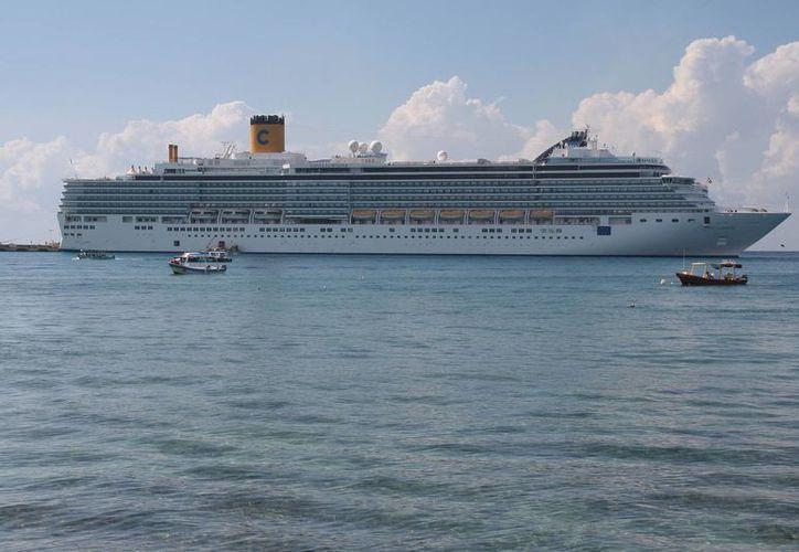 En el 2013 el mes de menor llegada de cruceros fue junio. (Julián Miranda/SIPSE)