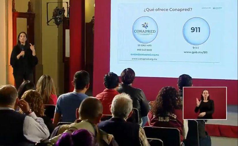La presidenta de Conapred pidió finalizar con la discriminación surgida a causa del Covid-19. (Foto: Ssa).