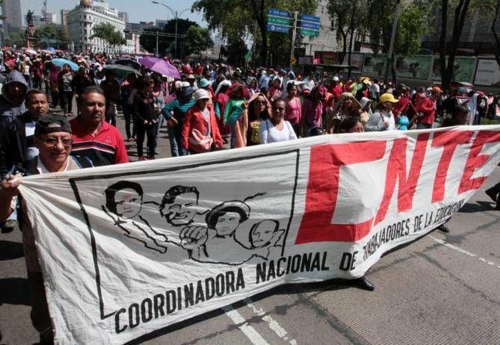 La sección 22 de la Coordinadora Nacional de Trabajadores de la Educación anunció asambleas en Oaxaca para planificar su lucha contra la reforma educativa en el estado. (Archivo Notimex)