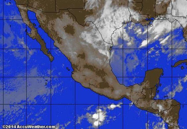 Continúa la entrada de aire marítimo tropical con poco contenido de humedad procedente del Golfo de México y mar Caribe hacia la Península de Yucatán. (accuweather.com)