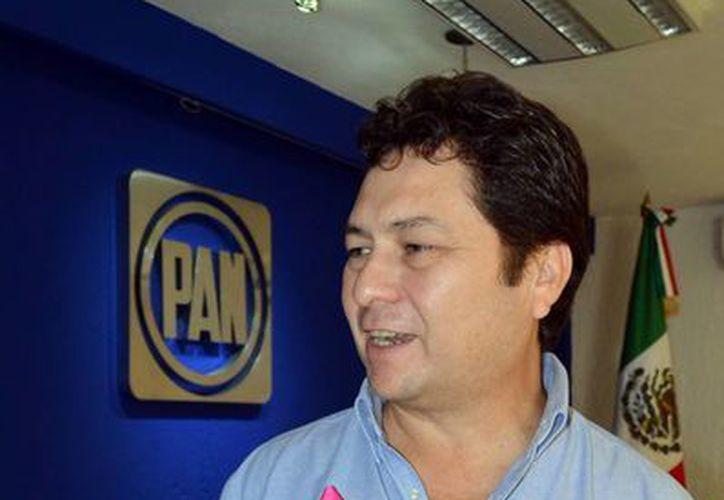 El presidente estatal del PAN, Hugo Sánchez Camargo, considera que no hubo irregularidades en la elección de consejera nacional del PAN. (SIPSE)