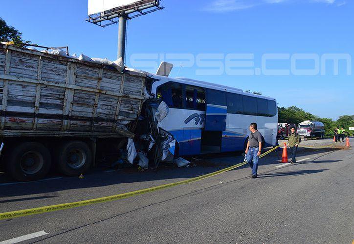 El autobús salió de Veracruz y se dirigía a la capital yucateca. (Carlos Navarrete/SIPSE)