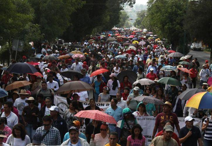 Los maestros morelenses respaldan las acciones de sus compañeros de Guerrero y otras entidades. (Notimex)