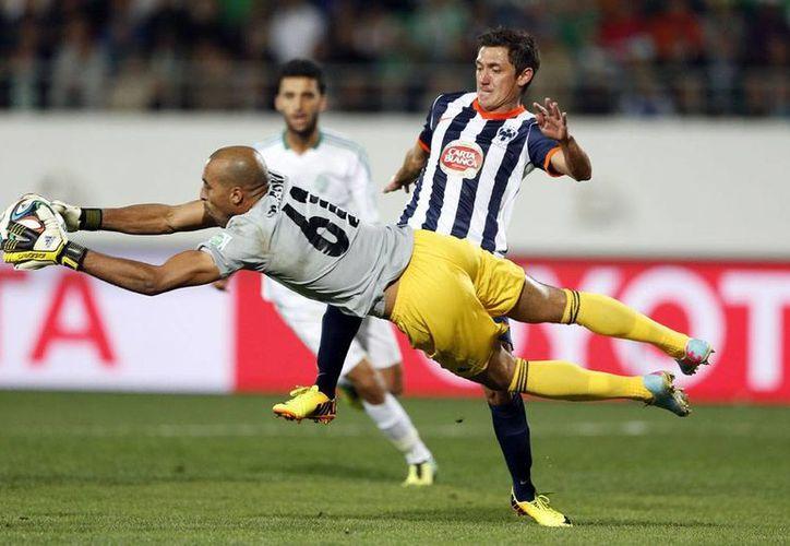 Rayados de Monterrey perdió frente al local Raja Casablanca en partido del Mundial de Clubes 2013, en Marruecos. El equipo mexicano jugará por el quinto lugar del torneo. (NTX)