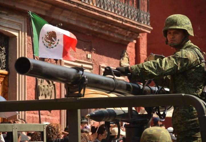 Una delegación de las Fuerzas Armadas de México viajará a París para participar en un desfile militar en París, Francia. Imagen de archivo. (Archivo/Notimex)