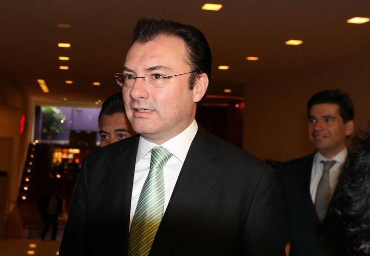 El titular de la dependencia, Luis Videgaray, encabezó la reunión con los legisladores. (Archivo/Notimex)
