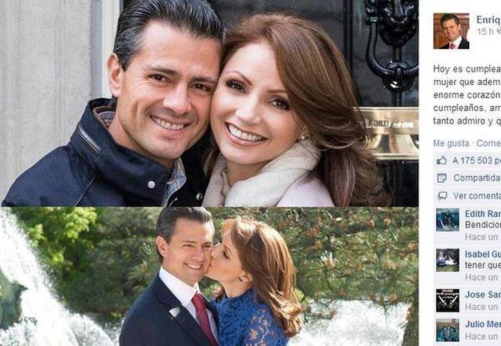 Estas son las imágenes que el presidente Enrique Peña Nieto subió a su página de Facebook por el cumpleaños de su esposa Angélica Rivera. (Facebook)