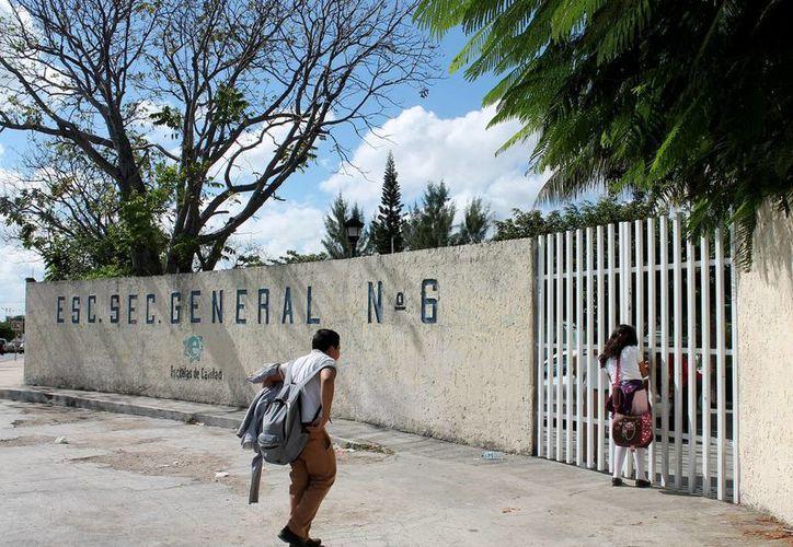 Escuelas primarias y secundarias modificarán horarios. (Francisco Gálvez/SIPSE)