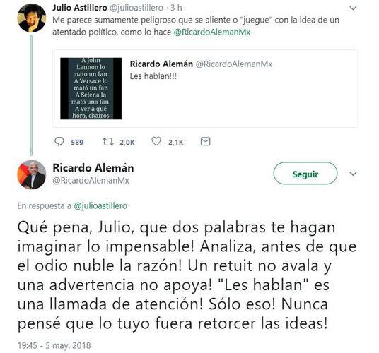 Despiden Televisa y Canal 11 a Ricardo Alemán tras tuit polémico