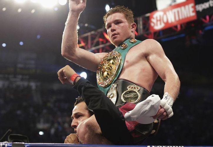 """El """"Canelo"""" llegó a una marca de 42 peleas. (Agencias)"""