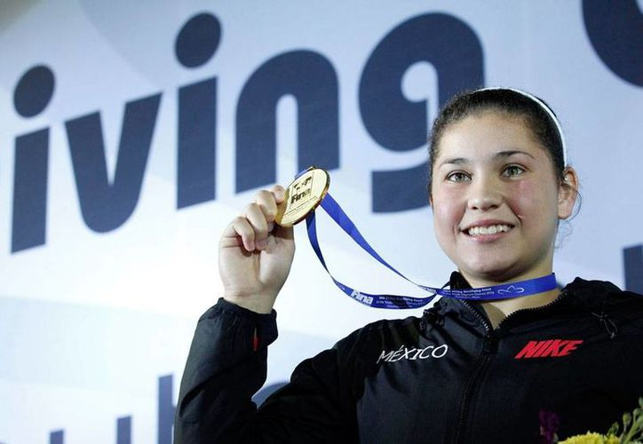 La clavadista Dolores Hernández dominó de principio a fin la prueba de trampolín de 1 metro en los Juegos Centroamericanos 2014, y se llevó el oro. La imagen no corresponde a los Juegos Centroamericanos, es de archivo.(NTX)
