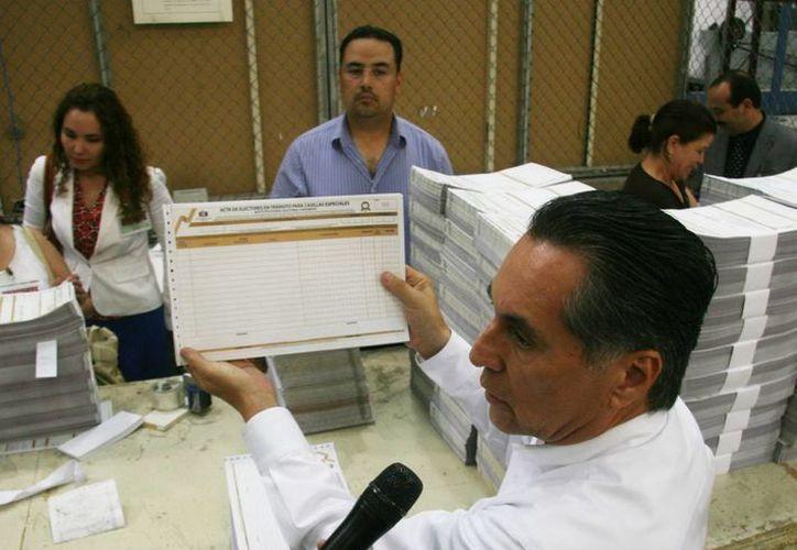 Actividades en el Instituto Estatal Electoral (IEE) en Chihuahua. (Notimex)