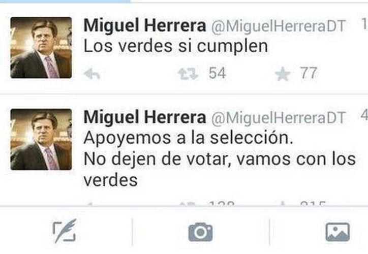 Miguel Herrera, que en 2015 era director técnico de la Selección Mexicana, es una de las personalidades que emitió mensajes a favor del PVEM durante las elecciones de ese año. (Archivo/SIPSE)