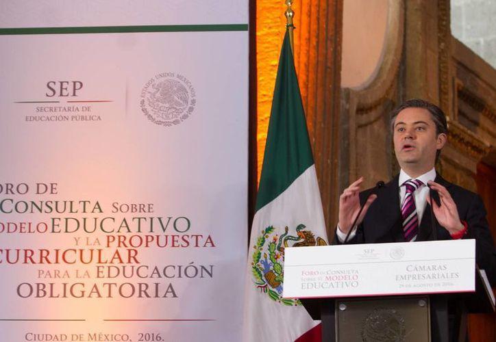El titular de la Secretaría de Educación Pública, Aurelio Nuño Mayer, inauguró el Foro de Consulta del Modelo Educativo y la Propuesta Curricular para la Educación Obligatoria. (Notimex)
