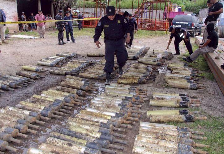 Fotografía cedida por la Fiscalía General de la República que muestra el hallazgo. (EFE)