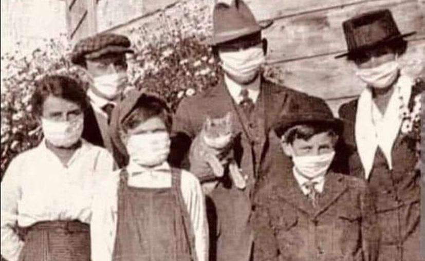 La evidencia científica existe desde 1920, cuando el uso de cubrebocas logró detener la pandemia de la Gripe Española, aseguran científicos. (Foto: Twitter).