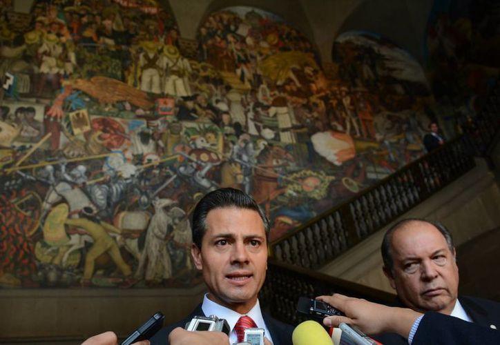 El presidente de México, Enrique Peña Nieto, resalta que la exposición (foto) sobre la cultura maya estará abierta en Palacio Nacional hasta el 27 de abril. (Notimex)