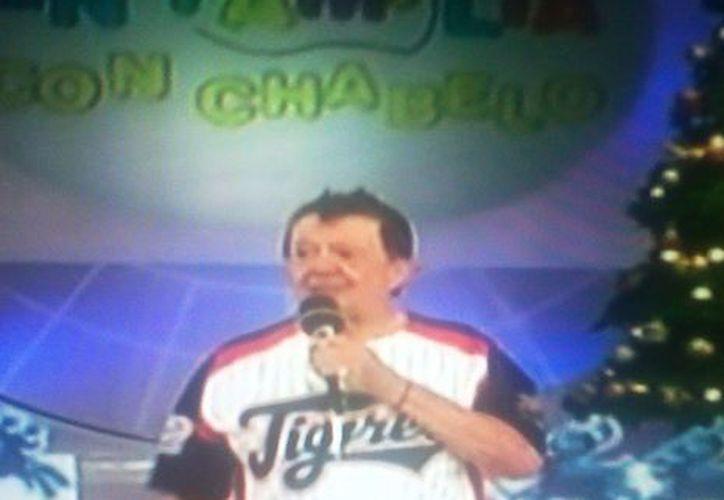 """Xavier López """"Chabelo"""" durante la emisión 2 mil 300 de su programa. (Redacción/SIPSE)"""