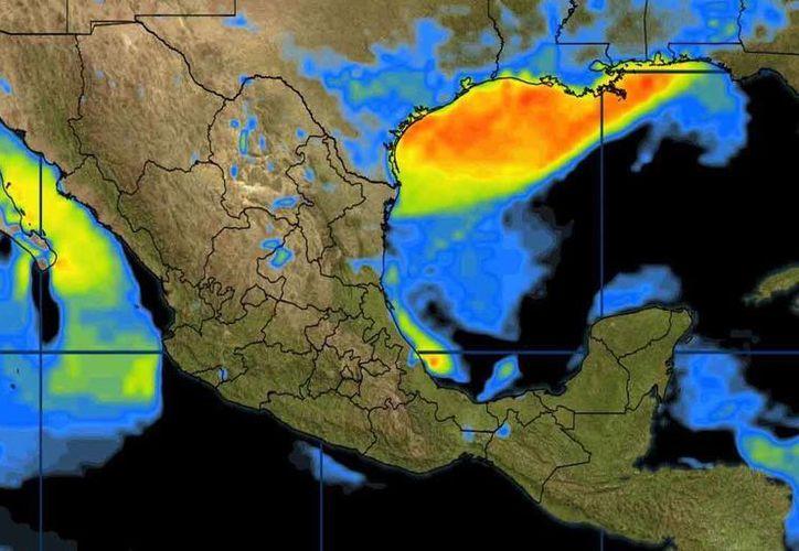 El Frente Frío Número 30 se extenderá desde el norte del Golfo de México. (Conagua)