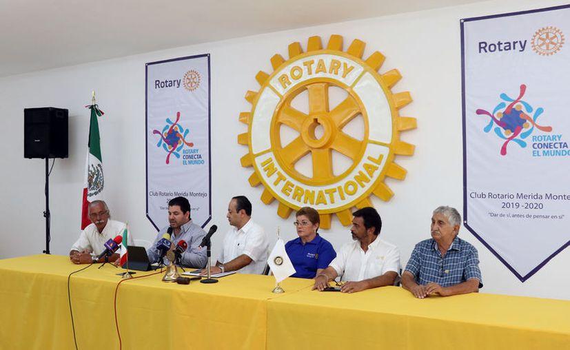 La campaña es un proyecto de rotary internacional. (Daniel Sandoval/Novedades Yucatán)
