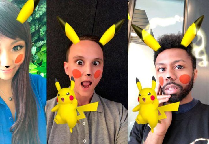 El filtro de Pikachu incluye las orejas, la nariz y las mejillas rojas del popular Pokémon. (Foto: Cult of Mac)