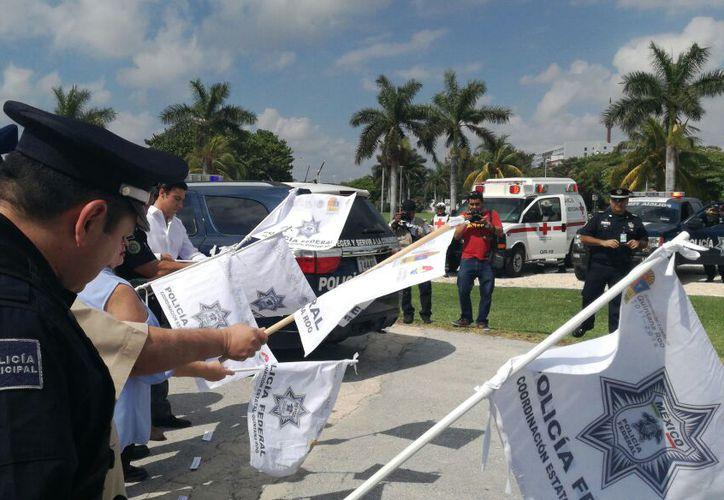 Dieron el banderazo del Operativo Vacacional de Semana Santa 2018. (Ivett Ycos/SIPSE)