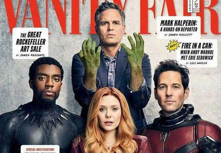 Black Panther (Chadwick Boseman), Bruja Escarlata (Elizabeth Olsen), Hulk (Mark Ruffalo) y Ant-Man (Paul Rudd). (Foto: Vanity Fair)