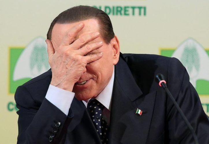 Silvio Berlusconi, durante un acto de campaña electoral en Roma, el 15 de febrero de este año. (EFE)