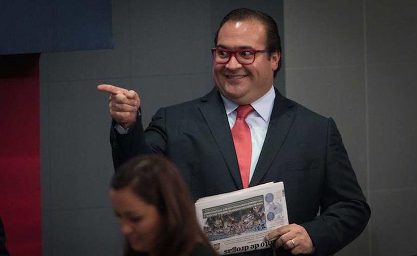 Javier Duarte afirma que las denuncias ante la PGR y el SAT por desvío de recursos carecen de fundamentos y solo es una campaña política en su contra. (Pedro Mera, Xinhua)