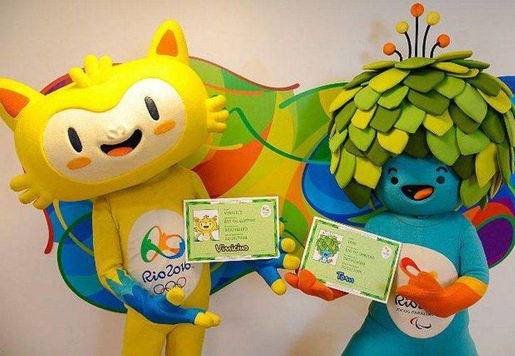 Vinicius y Tom es el nombre de las mascotas de las Olimpiadas de Rio 2016. (jornaldebrasilia.com.br)