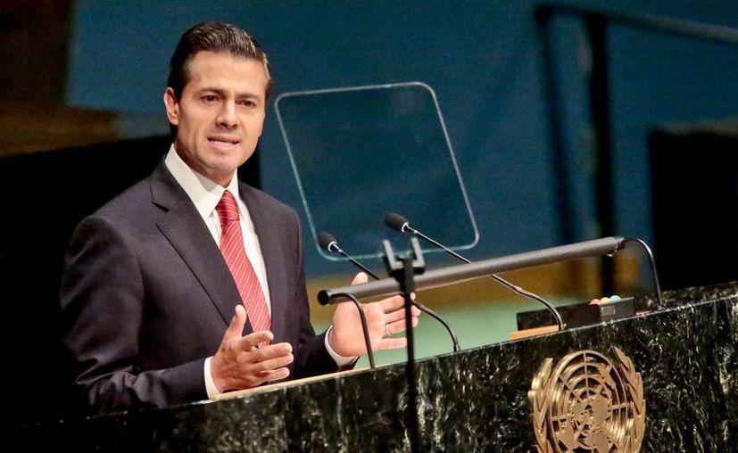 Enrique Peña Nieto durante participación en la sesión de la ONU sobre la política global de drogas. (Agencias)