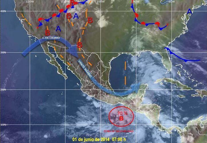 En Cancún se registra una probabilidad del 80 por ciento de lluvias muy fuertes durante la mayor parte del día. (Redacción/SIPSE)