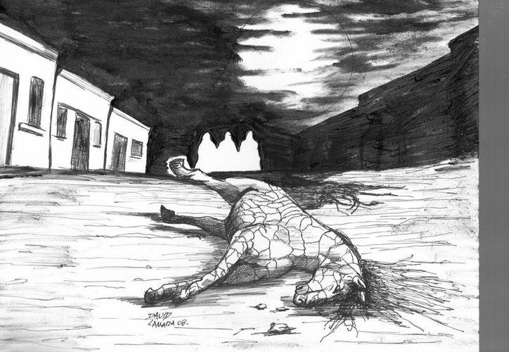 El caballo de piedra causó temor primero en Tizimín y después en Valladolid. (Jorge Moreno/SIPSE)