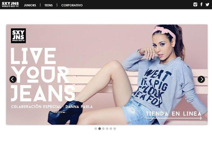 Durante los dos meses que tomó desarrollar la colección, Danna Paola trabajó con el equipo creativo de la firma en la selección de telas y cortes. (sexyjeans.com.mx)