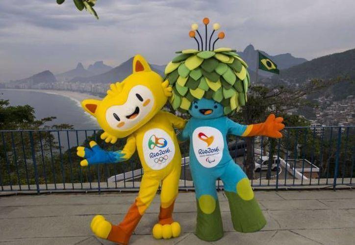 Las mascotas de la justa veraniega que representan la fauna y flora tan característica de las tierras brasileñas. (Archivo/AP)