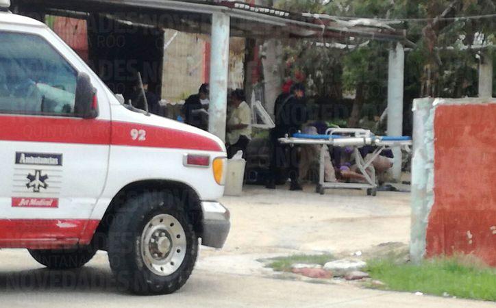 Al lugar arribaron elementos de la Policía Municipal. (Eric Galindo/ SIPSE)